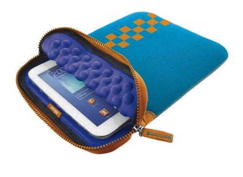 """Trust Custodia Protettiva con Bolle Universale per Tablet da 10"""", Azzurro/Viola"""