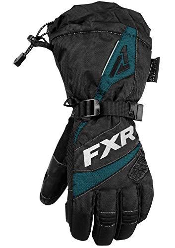 FXR Womens Fusion Glove 2019 (Black/Ocean - Medium)