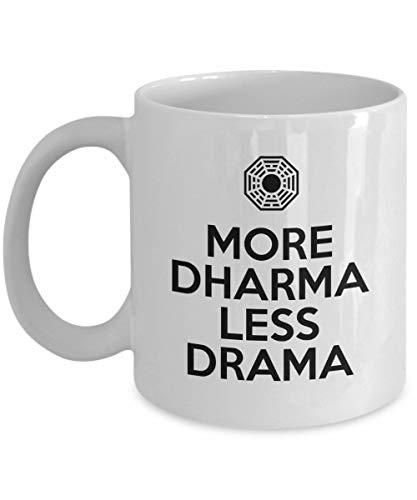 N\A Taza de café More Dharma Less Drama, Blanca