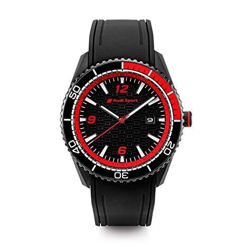 Audi Reloj Deportivo para Hombre, Color Negro y Rojo 3102000200