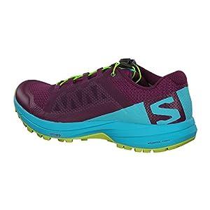 SALOMON XA Elevate Running Shoe - Women's Dark Purple/Blue Curacao/Acid Lime 7