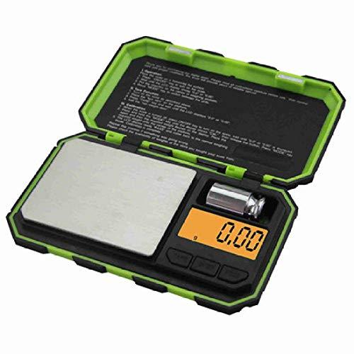 1 Uds Mini balanza digital 200g x 0,01g Pantalla LCD precisa Máquina de precisión Herramientas de pesaje Piezas electrónicas Verde
