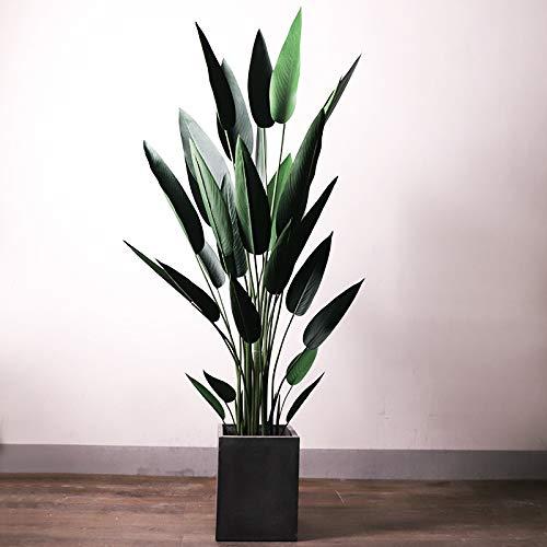 MyWheelieBin Canna Plante Faux Voyageur Banane Simulation Plante en Pot Décoration D'intérieur Décoratif Pot De Fleur Canna 210cm- sans Bassin en Ciment