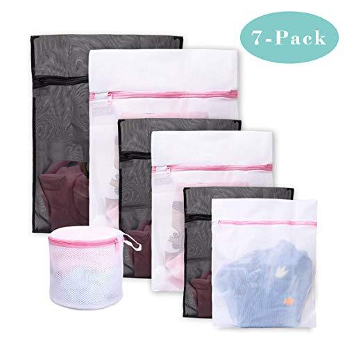 7 Stück Wäschenetz Wäschesack Premium Qualität Wäschetasche Set Waschbeutel für Waschmaschine Ideal für BH, Unterwäsche, Socken, Strumpfhosen, Babysachen