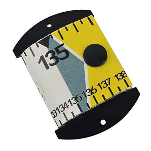 Leezo 138 cm X 5 cm wasserdichte Fisch Messlineal Genaue Fisch Messband PVC Angeln Lineal Messgerät Werkzeug, Tragbare Angeln Lineal Skala Angelgerät Werkzeug