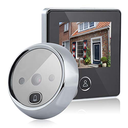 Door Viewer Peephole, Video Doorbell Digital Door Peephole Viewer Smart Vision Door Camera Monitor with 3MP, 120° Wide Angle, IR Night Vision for Home Office Hotel