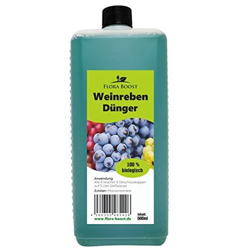 Konfitee Weinreben Dünger - Weinrebendünger für Traubenpflanzen - Mehr Weintrauben und gesunde Weinreben (500 ml)
