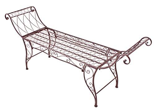 Jardinion Gartenbank, Sitzbank, Armlehne, Edel Rost-Optik, Eisen, Baum, Englischer Garten, Design