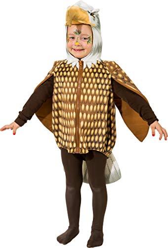 narrenkiste O5036-104 bunt Kinder Mädchen Junge Adler Weste-Kostüm Gr.104