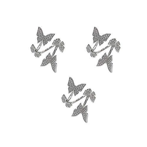 Anillos Yialatoe para mujer, anillo de tejido ajustable, bucle de ganchillo, accesorios de tejido, regalo de joyería para el Día de San Valentín
