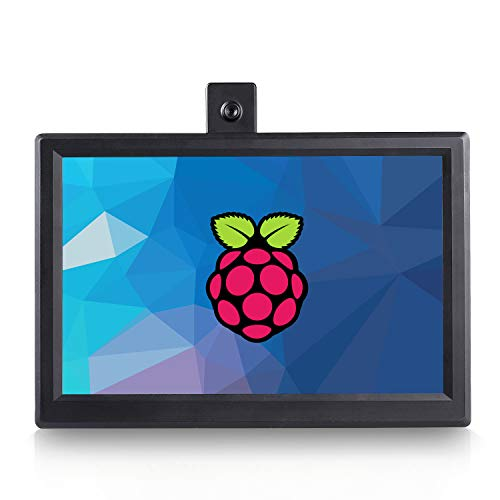 SunFounder 10.1'' IPS Monitor Raspberry Pi 10.1 Zoll Screen LCD IPS Display Portable HDMI Monitor High Resolution 1280×800, All-in-One Scheme Design for Raspberry Pi 4B