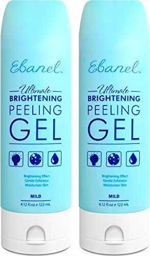 Ebanel 2-Pack Exfoliating Face Scrub Peeling Gel, Brightening Moisturizing Gentle Face Wash, Face Exfoliator Dead Skin Remover with Aloe, Honey, Peptides, Allantoin, Vitamin C & E, Stem Cell Extracts