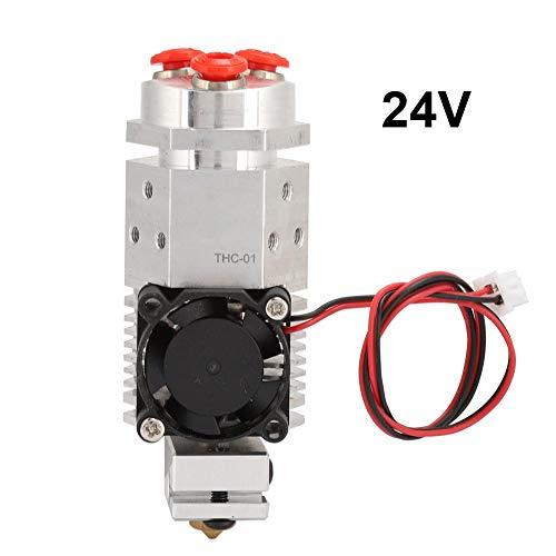 3 in 1 Multi-Color Aluminum Remote Extruder Three Colors Switching Hotend Kit 12V&24V for 3D Printer 1.75mm THC-01(24V)
