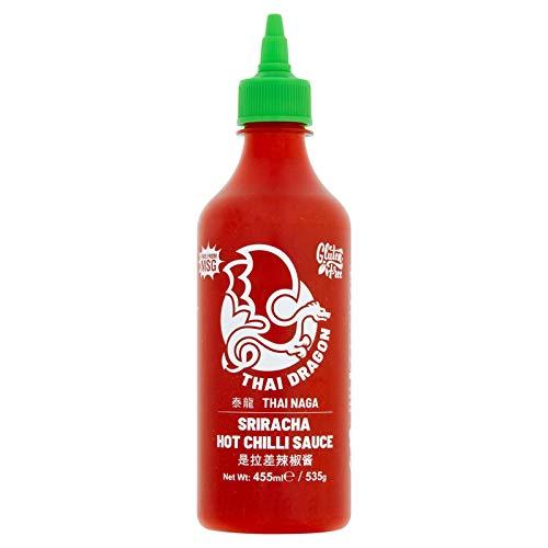 Flying Goose Sriracha Hot Chilli Sauce 455ml, Uno dei marchi di salsa più popolari in Thailandia, Confezione da 2