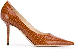 JIMMY CHOO Women's LOVE85CCLCUOIO Brown Leather Pumps