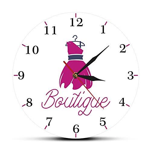 NIGU Regalos del día del miembro para las mujeres Moda Couture Boutique Reloj de pared Femenino Belleza Sala Vestir Arte de la pared Decoración del