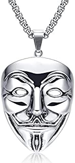 V Mask Shape Chunky Necklace for Men