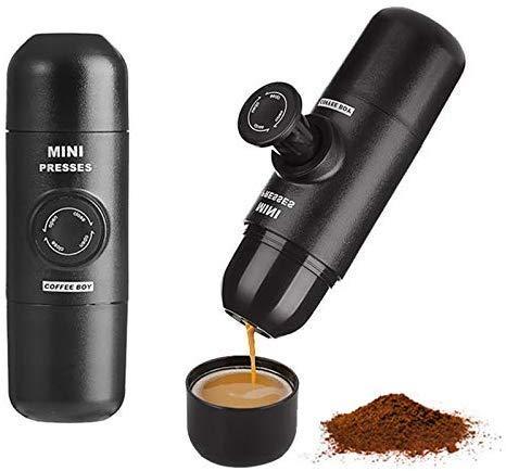 ShiSyan Máquina de café Máquina de café,Manual Cafetera presión de Mano portátil de cápsulas de café Nespresso cápsulas Máquina for Mini-Máquina de café