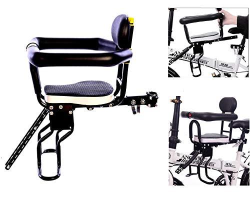 TETAKE Kindersitz Fahrrad, Abnehmbar Fahrradkindersitz Vorne mit Pedal und Griff, Fahrradsitz Kinder für Herrenfahrrädern und Damenrädern