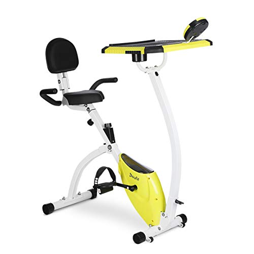 Exercise Bike with Desktop, Doufit EB-07 Foldable Indoor...