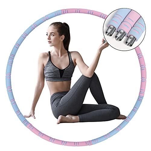 SUQQUER Aro de hula Hoop de Aiweite para adultos y niños para perder peso y masaje, 6 piezas desmontables