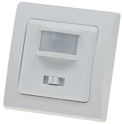 Delphi bewegingsmelder 3-draads LED geschikt 230 V 160 ° sensor 7 meter I met 1-voudig frame I White