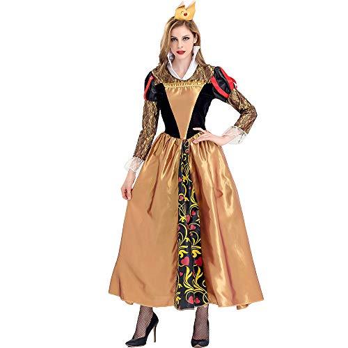 Xwenx Trajes de Cosplay Vestido para Mujer Vestido Halloween Cosplay Disfraces Anime Cosplay Disfraces Conjunto, Disfraz De Halloween,M