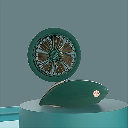 ventilador pequeño,Ventilador pequeño simple y creativo de carga USB, adecuado para estaciones portátiles de múltiples escenarios, mini ventilador de bobinado verde