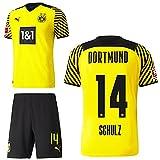 PUMA Borussia Dortmund BVB Heimset 2021 2022 Home Kit Sponsor BL Logo Herren Nico Schulz 14 Gr L