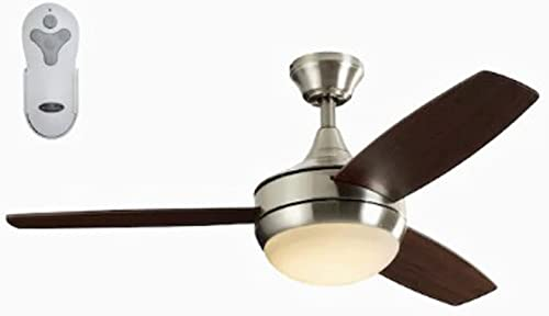 lowest Harbor wholesale Breeze Beach Creek 44-in Brushed Nickel Integrated LED Indoor Downrod Or new arrival Close Mount Ceiling Fan with Light Kit and Remote sale