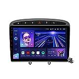 LYHY Android 10.0 Autoradio, Radio kompatibel mit Peugeot 408 308 308S 2012-2020 GPS-Navigation...