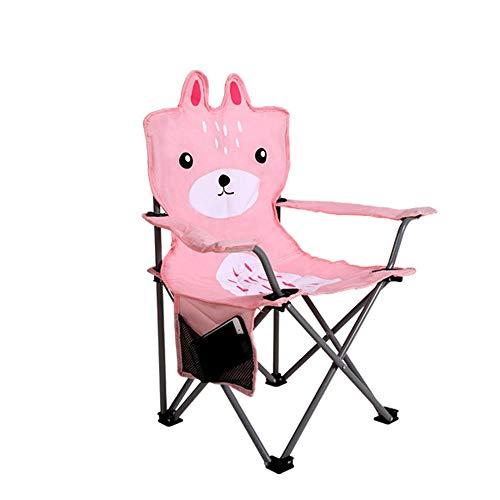 ZSLLO Campingstuhl Rosa Außenleuchte Klappstuhl niedlicher Kunstskizzenstuhl tragbarer kampierender Freizeithocker Rutschfester Fischenstuhl einfach zu lagern und zu reinigen Klappstuhl