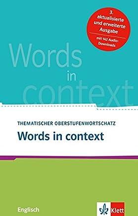 Words in context Theatischer Oberstufenwortschatz Englisch by Louise Carleton-Gertsch