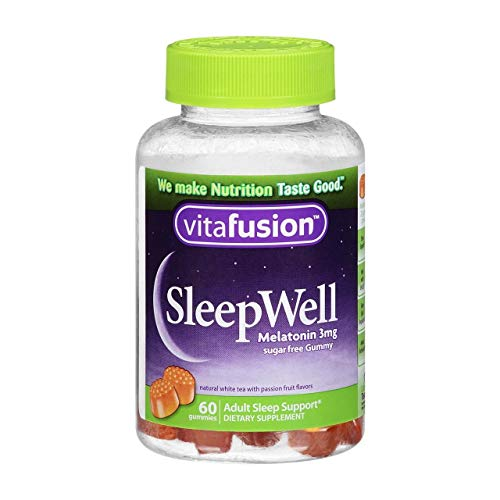 VITAFUSION Sleep Well Melatonin Gummies Sugar Free, 60 Each (3 Pack)