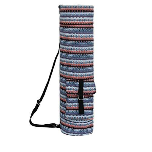 Liadance Yoga Mat Bolsa, con Cremallera Ejercicio Yoga Mat Bolsa De Transporte Durable Impermeable De Tela Oxford Withextra Ancha, Correa De Hombro Ajustable Almacenamiento De Herramientas Azul.