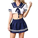 Sexy Disfraz De La Colegiala Para Mujer Japonés Lencería Uniforme Disfraces Escuela De Mujer Disfraz Fancy Vestido Juego De Rol Anime Lolita Traje De Marinero Trajes De Cosplay, Tamaño Libre (S-L)
