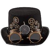 dream cosplay Sombrero de copa Steampunk con sombrero de brújula Carnaval(Mujeres)