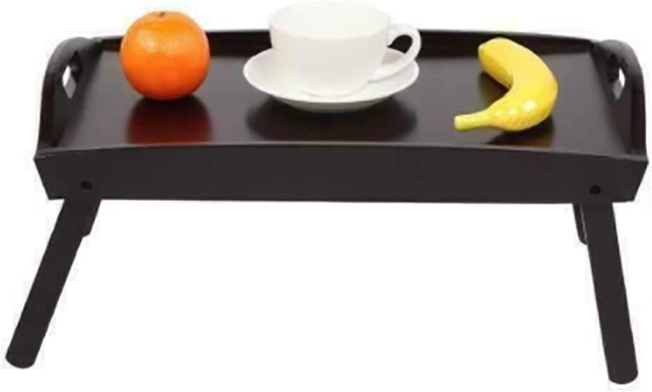 Bed Tray It is very popular Lap Desk Service Table Dinner Limited time sale Foldable Legs Meal Wood B