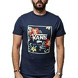 Vans Print Box Camiseta, Azul (Dress Blue Trap Floral Ykb), Medium para Hombre