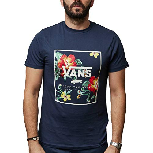 Vans Print Box Camiseta, Azul (Dress Blue Trap Floral Ykb), Large para Hombre
