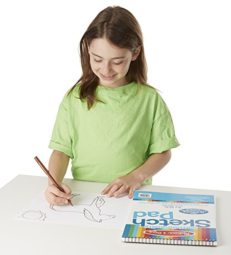 """Melissa & Doug Sketch Pad, Arts & Crafts, Fade-Resistant, Acid-Free White Paper, 50 Sheets, 2-Pack, 9"""" W x 12"""" L, Great Gift for Girls and Boys - Best for 3, 4, 5 Year Olds and Up"""