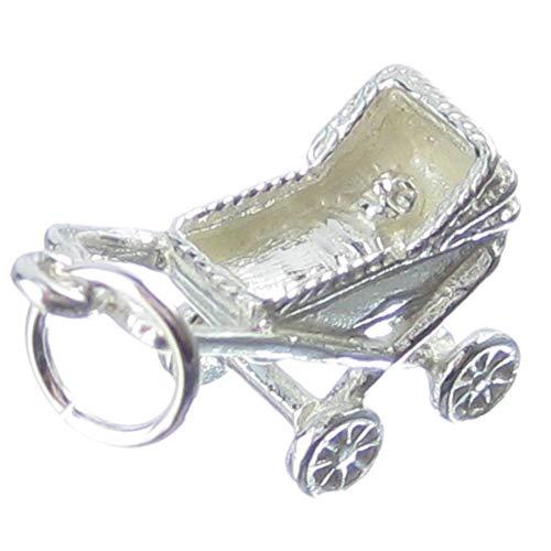 Pram sterling silver charm .925 x 1 Prams Strollers Babies charms -SFP