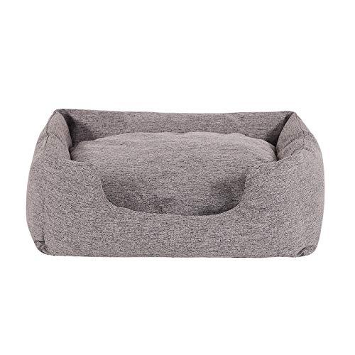 dibea DB00750, Hundebett mit wendbarem Hundekissen, 60 x 50 cm, grau (Farben/Größe wählbar) - 5