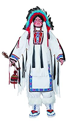 """Keepsake The Label Golden Keepsakes Collectible Heirloom Native American 48"""" Porcelain Doll -Chief White"""