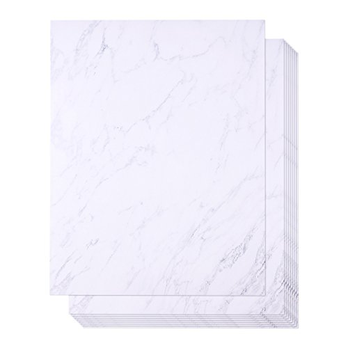 Marble Stationery Paper, Letter Size (8.5 x 11 in, 48 Sheets)