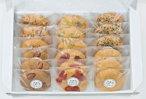 鹿児島丸ぼーろ 18枚 詰め合わせ 吉満菓子店 プレーン、アーモンド、いちご、キウイ、胡麻、シナモン