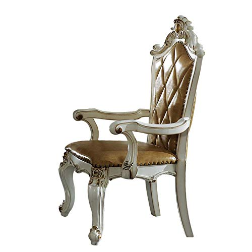 Traditional Vintage Armchair, Antique Pearl Cream Color, Handmade Design, Tufted Armchair, Dining Chair, seat Side Chair, exquisitely Arranged, can Change The Appearance of Your Restaurant