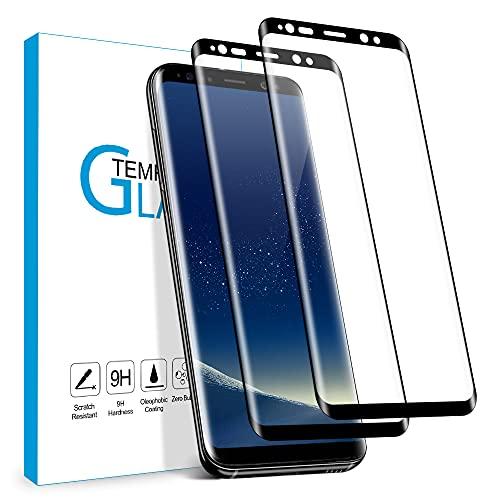 Carantee Panzerglas Schutzfolie für Samsung Galaxy S8, 9H Härte Schutzfolie, HD Displayschutzfolie, Anti-Kratzer/Bläschen/Fingerabdruck/Staub Panzerglasfolie für Samsung S8 [2 Stück]