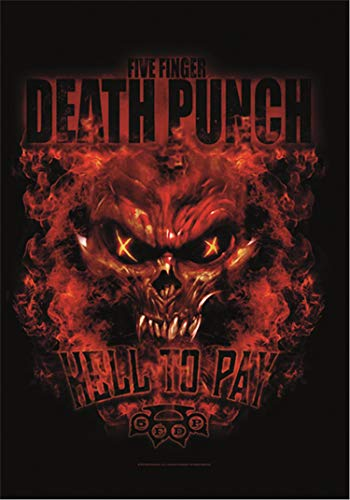 Heart Rock Licensed Drapeau 5 Finger Death Punch – Hell to Pay, Tissu, Multicolore, 110 x 75 x 0,1 cm