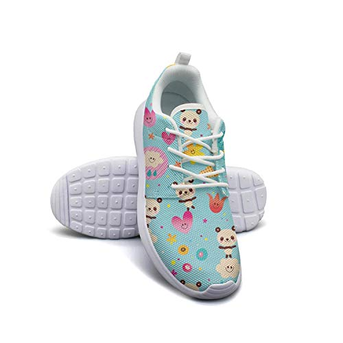 Blue Baby panda bears white Gym Shoes for Women Classic Wear-Resistant Best Running Shoes